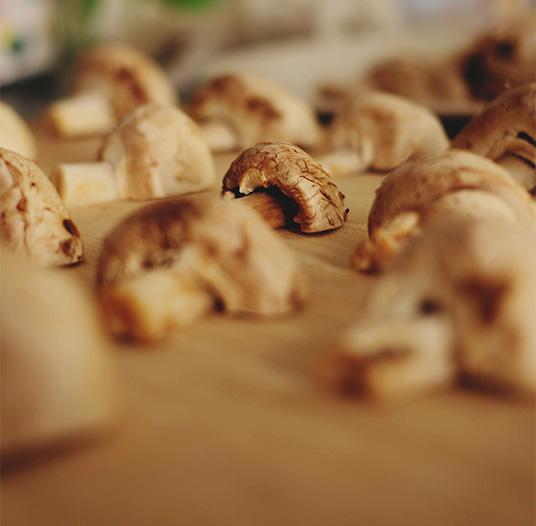 Doppio Gusto Italienisches Restaurant Herbstmenü mit Steinpilzen